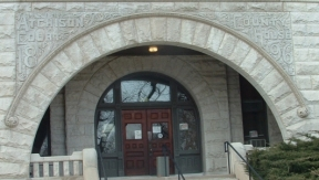 Atchison Courthouse Entrance